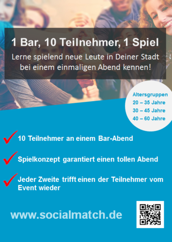Kennenlernen in Frankfurt mal anders - Socialmatch